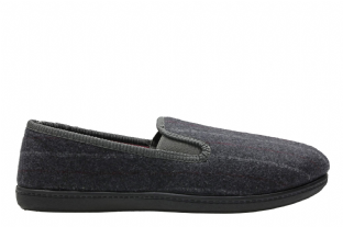 Clarks Mens King Twin Grey Slippers